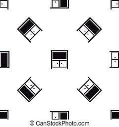 Vintage sideboard pattern seamless black
