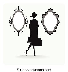 Vintage silhouette of a woman