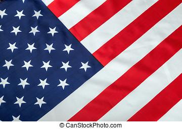 vintage silk American flag Close up background