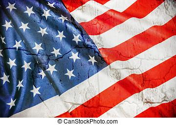 vintage silk American flag