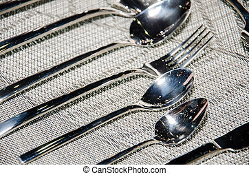 Vintage silver spoons.