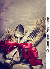 Vintage Silverware - Vintage valentine table settings...