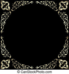 Vintage silvery frame
