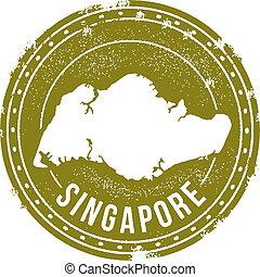 Vintage Singapore Stamp