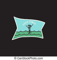 Vintage skeleton hand logo, shaka print design for t-shirt....