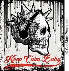 Vintage Skull T shirt Graphic Design