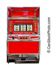 vintage slot machine isolated