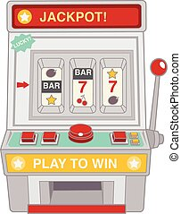 Vintage slot machine toy isolated on white - Vector file...