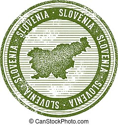 Vintage Slovenia Country Tourism Stamp