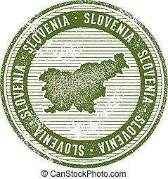 Vintage Slovenia Country Tourism Stamp - Vintage style...