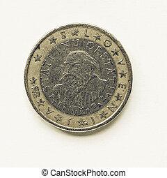 Vintage Slovenian 1 Euro coin
