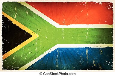 Vintage South Africa Flag Poster Background