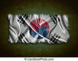 Vintage South Korea flag.
