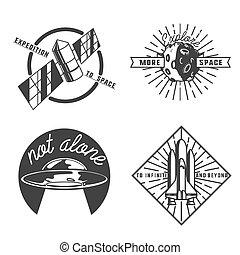 Vintage space emblems