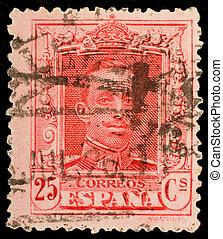 Vintage spanish postage stamp