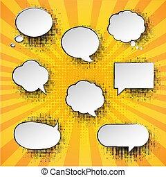 Vintage Speech Bubble With Sunburst Poster