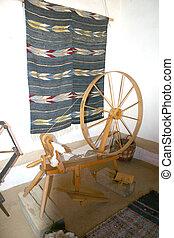 Vintage Spinning Wheel - Vintage spinning wheel still...