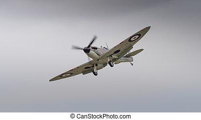 Supermarine Spitfire fighter aircraft in flight