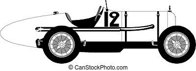 vintage sport car