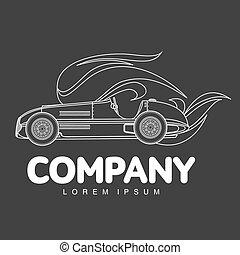 Vintage sport racing car