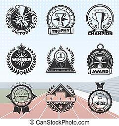 Vintage Sport Rewards Labels Set