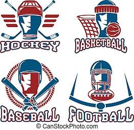 vintage sport vector labels set