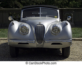 Vintage Sports Car - XK-120 - Vintage Jaguar XK-120 seen at...