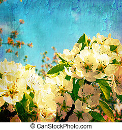 Vintage spring textured background