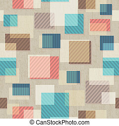 vintage square seamless pattern with grunge effect