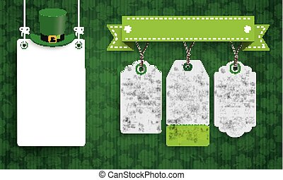 Vintage St Patricks Day Board Hat 3 Price Stickers
