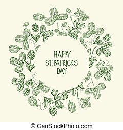 Vintage St Patricks Day Green Template