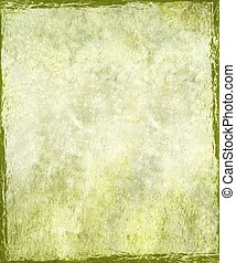 Vintage stained green plaster background