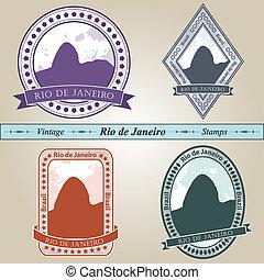 Vintage stamp Rio de Janeiro