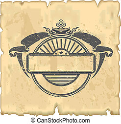 Vintage Stamp - The vector image of a stamp in style a...