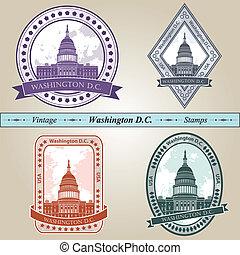 Vintage stamp Washington DC - Vintage stamp from Washington...