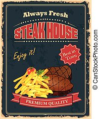 Vintage Steak House poster
