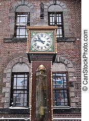 Vintage steam clock tower