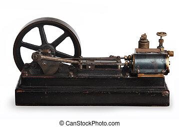 steam piston - vintage steam piston and flywheel