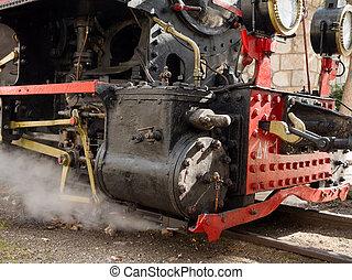 Vintage steam powered train