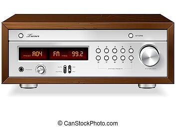 Vintage Stereo Radio Receiver / Tuner vector - Vintage...