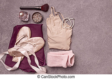 Vintage still Life with Ballet Shoes