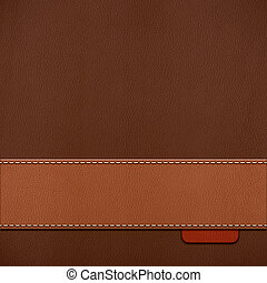 stitched leather background - Vintage stitched leather...