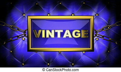 vintage on velvet background