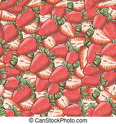 Vintage Strawberry Seamless Pattern