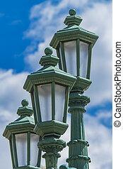 Vintage street lamp in Bergamo