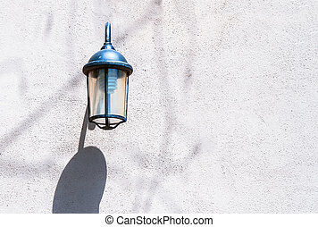 Vintage street lamp on the wall