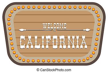 Vintage street sign California