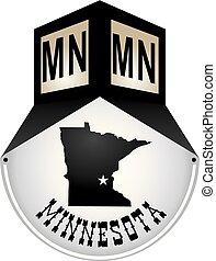 Vintage street sign for Minnesota
