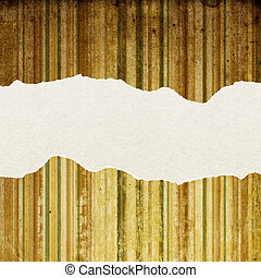 Vintage striped paper with torn edges. With space for text.