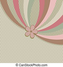 Vintage stripes vector background with copy space.